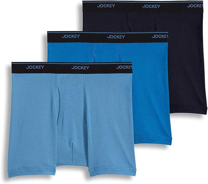Staycool Boxer Briefs Medium Blue Jockey Mens 3-pk