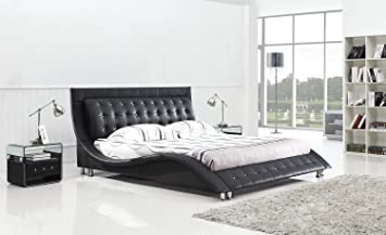 dublin contemporary platform bed king size black