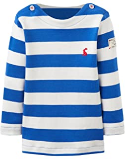 42cf0a9a3 Joules Baby Boys Rufus Pin Stripe T-Shirt - Cotton Long Sleeved Top ...