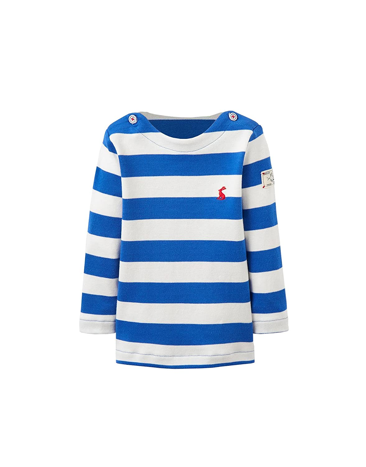 Joules Baby Boys Long Sleeved Harbour Striped Top - Ocean Blue Stripe