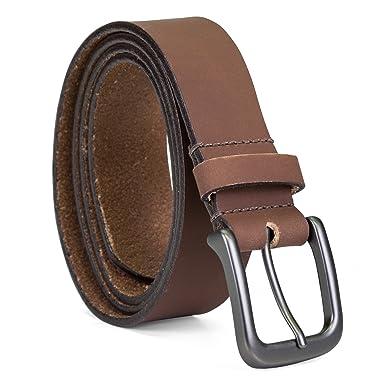 d9963f51b0a B75453 Timberland Men's 35MM Classic Jean Leather Belt (36, Brown ...