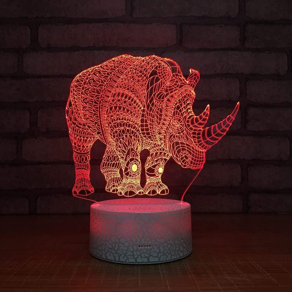 2 Pack,3D Optical Illusion Night Light [Copy] - Rhino LED