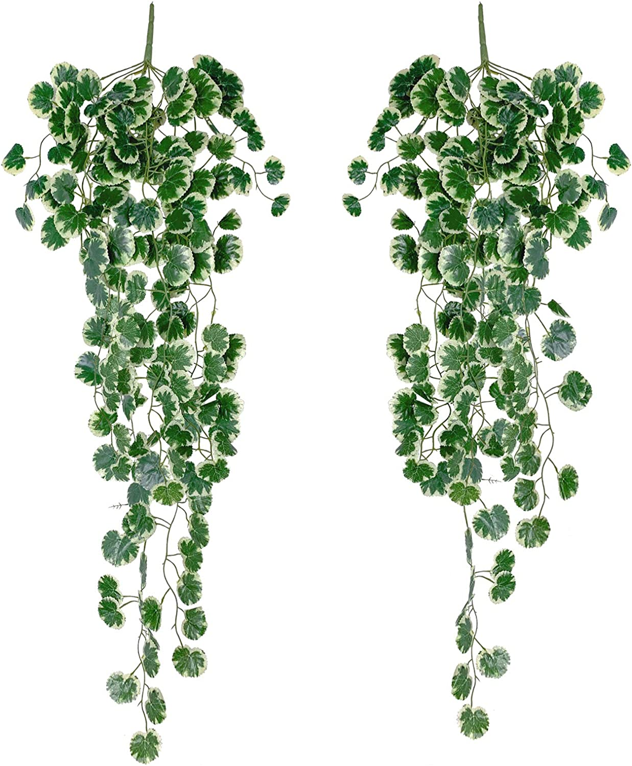 Yatim 90 cm White Crabapple Ivy Vine Artificial Plants Greeny Chain Wall Hanging Leaves for Home Room Garden Wedding Garland Outside Decoration Pack of 2