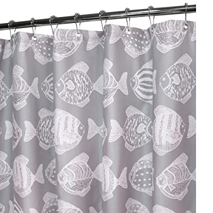 Park B Smith Fish School Watershed Shower Curtain Primary
