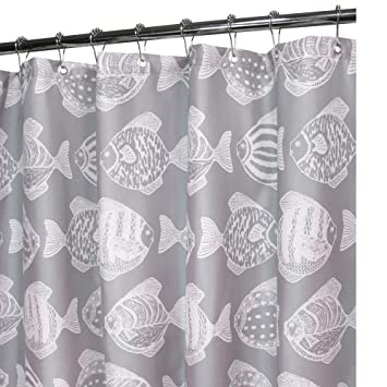 Amazon Park B Smith Fish School Watershed Shower Curtain