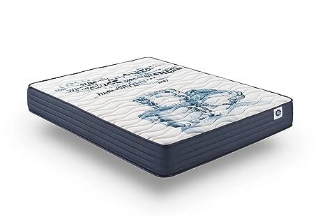 Naturalex Colchón Viscoelastico MEMOGEL - 90 x 200 cm - Espuma HR Latex - 7 Zonas