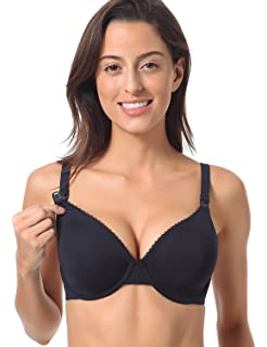 d10b4cb5b72ad Gratlin Women's Full Cup Lightly Lined Plunge Underwire Maternity Nursing  Bra