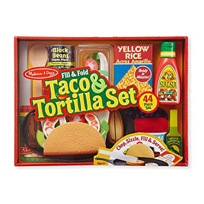 Fill & Fold Taco & Tortilla Set - 43 Piece Set - Children's Toy: Clothing
