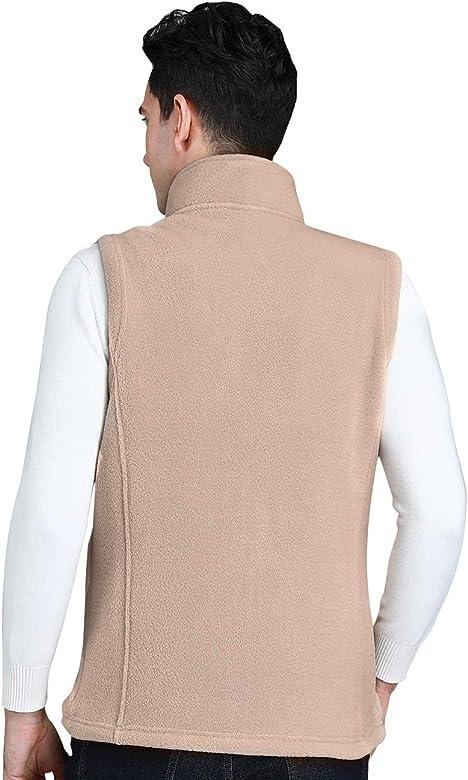 CAMEL CROWN Fleece Vest Gilet Body Warmer for Men Women Full Zip Sleeveless Jacket