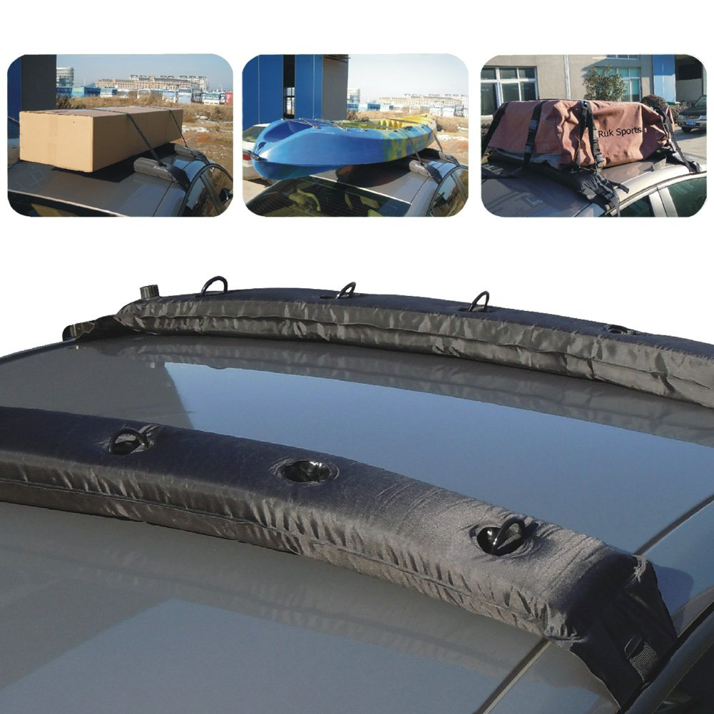 Amazon.com: TIROL New Pair Universal Auto Inflatable Top Air Roof Rack  Cargo Kayak Luggage Carrier Holder: Automotive