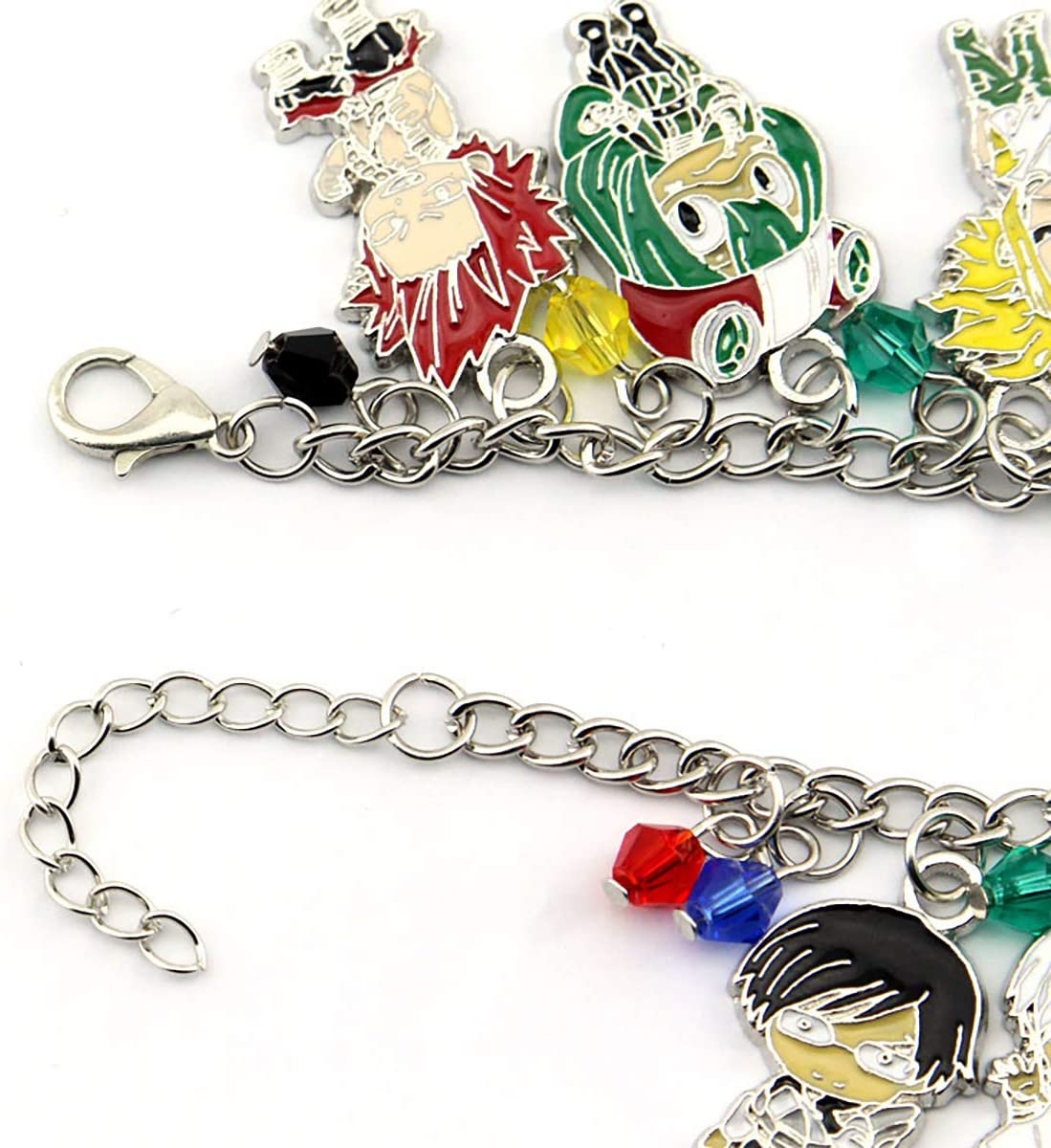 Good Friend bnha mha My Hero Academia Fashion Novelty Charm Bracelet The Best Choice for mha Fans Anime Manga Series Nine People Bracelet