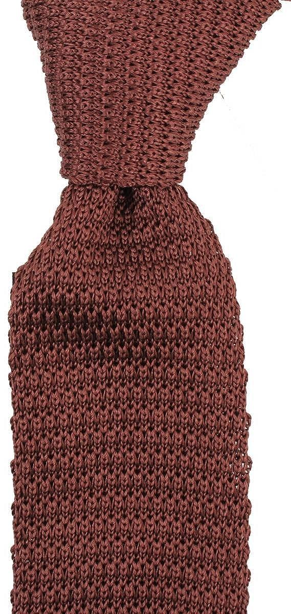 Brown Knightsbridge Neckwear Mens Knitted Tie