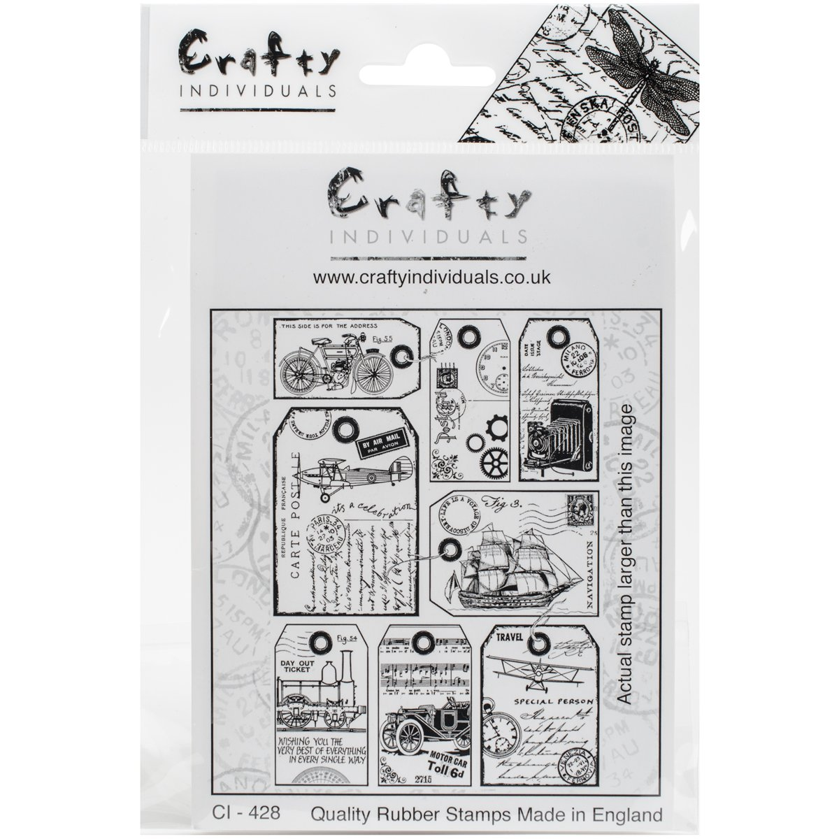 Crafty Individuals Unmounted Rubber Stamp, 4.75 x 7, It's a Man's World