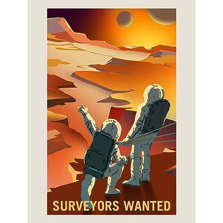 NASA POSTER SPACE EXPLORATION JOB ADVERT SURVEYORS ART PRINT HP3821