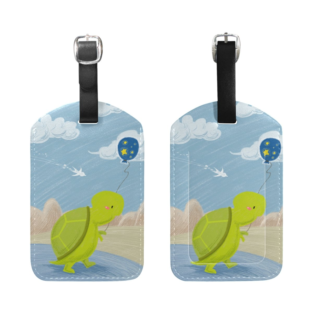 1Pcs Saobao Travel Luggage Tag Tortoise PU Leather Baggage Suitcase Travel ID Bag Tag