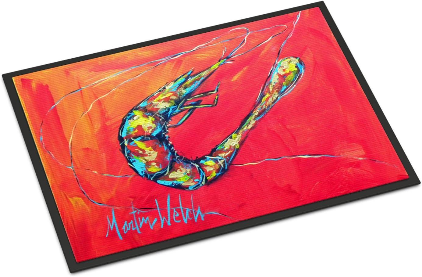 Carolines Treasures Shrimp Floor Mat 19 x 27 Multicolor