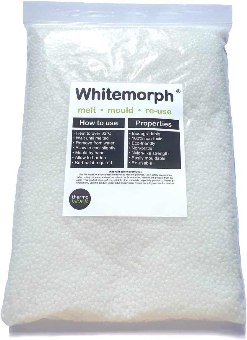 Thermoworx Whitemorph® 1kg | Hand mouldable thermoplastic polymer ...