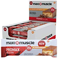 Maximuscle Promax High Protein Bar, Millionaire Shortbread, 60 g, Pack of 12