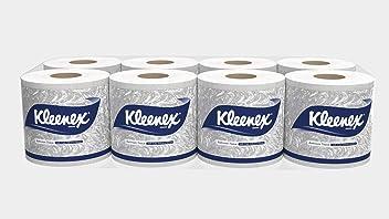 Kleenex 60048 Bathroom Tissue, 2 Ply, 160 Pulls Per Roll, 8 Roll Combo