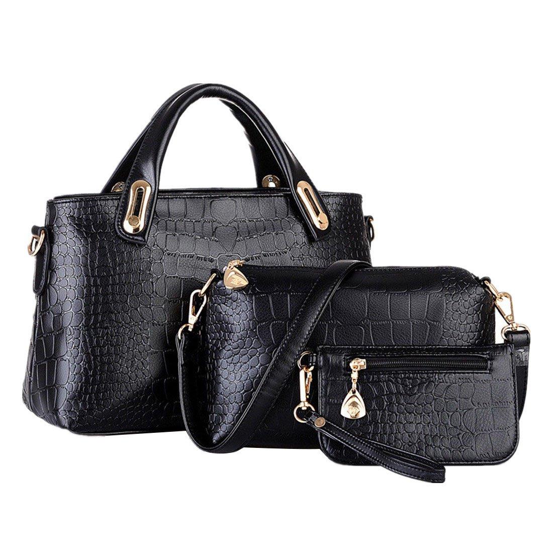 ESAILQ Un conjunto de bolsas de hombro bolso y la cartera de cuero para damas (amarillo): Amazon.es: Zapatos y complementos
