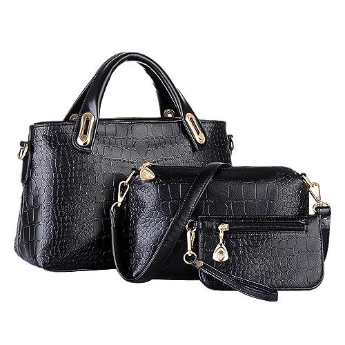 ESAILQ Un conjunto de bolsas de hombro bolso y la cartera de ...