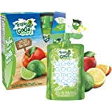 GoGo squeeZ Tropicalz Unsweetened Applesauce Pouches, Apple Lime Lemon Orange Flavour, Nut-Free Fruit Snack for Kids, 4…