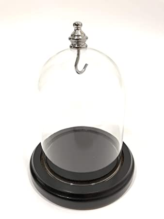 Glass Dome 3 x 4 Silver Knob, New Clear Glass Display Dome Premium Quality, Black Base with Groove FreePriority Ship, PocketWatch Dome, Display, 3 Wide, Dome and Base, Display