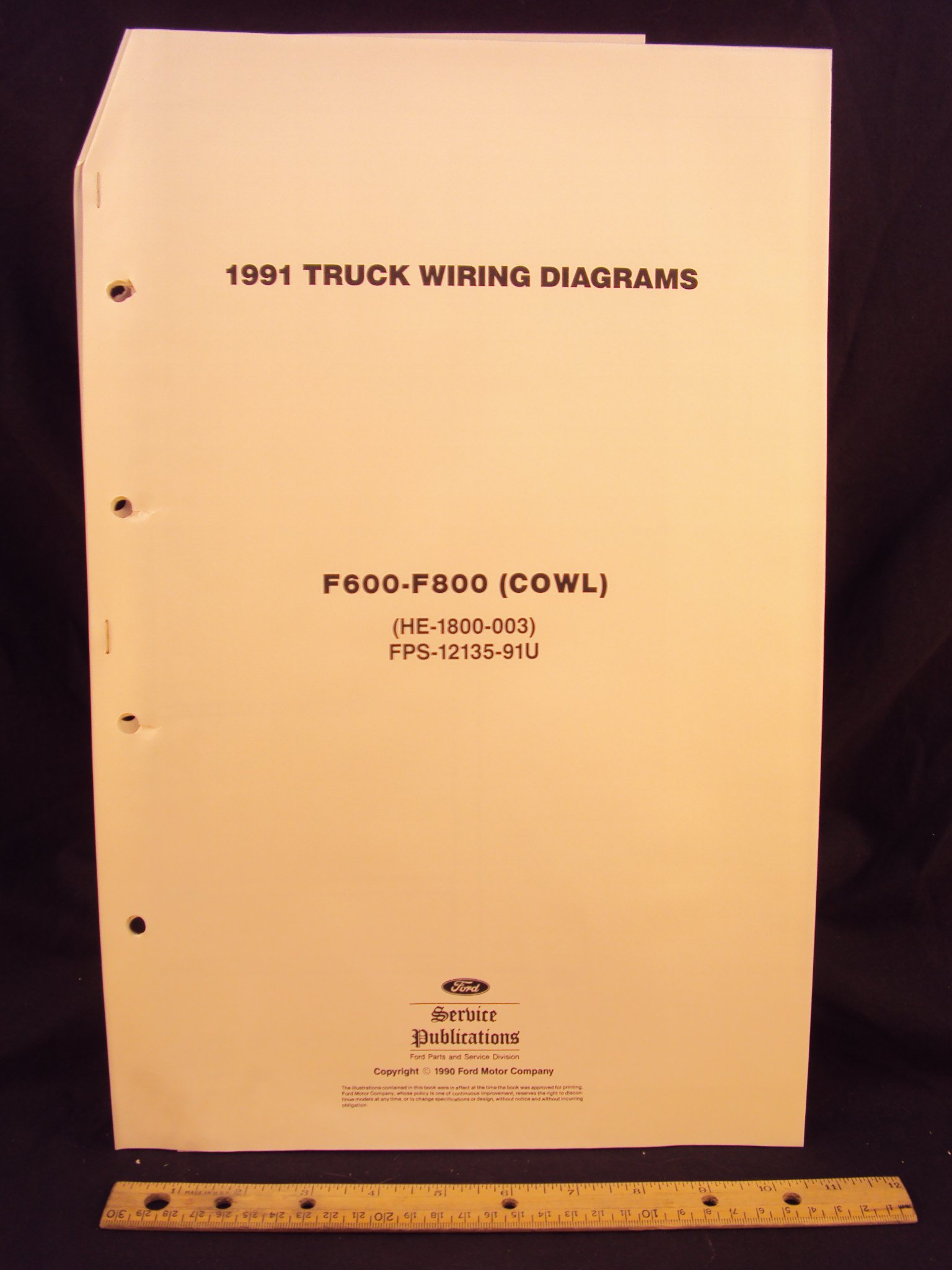 1991 FORD F600, F700, & F800 Series Cowl Truck Electrical Wiring Diagrams /  Schematics: Ford Motor Company: Amazon.com: Books
