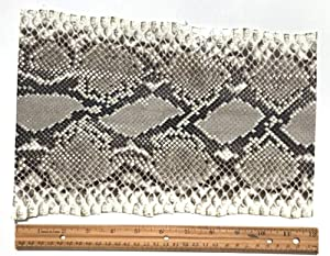 Snake Skin Snakeskin Black and White Diamond Python One Foot Long, 6 to 8 inches Wide