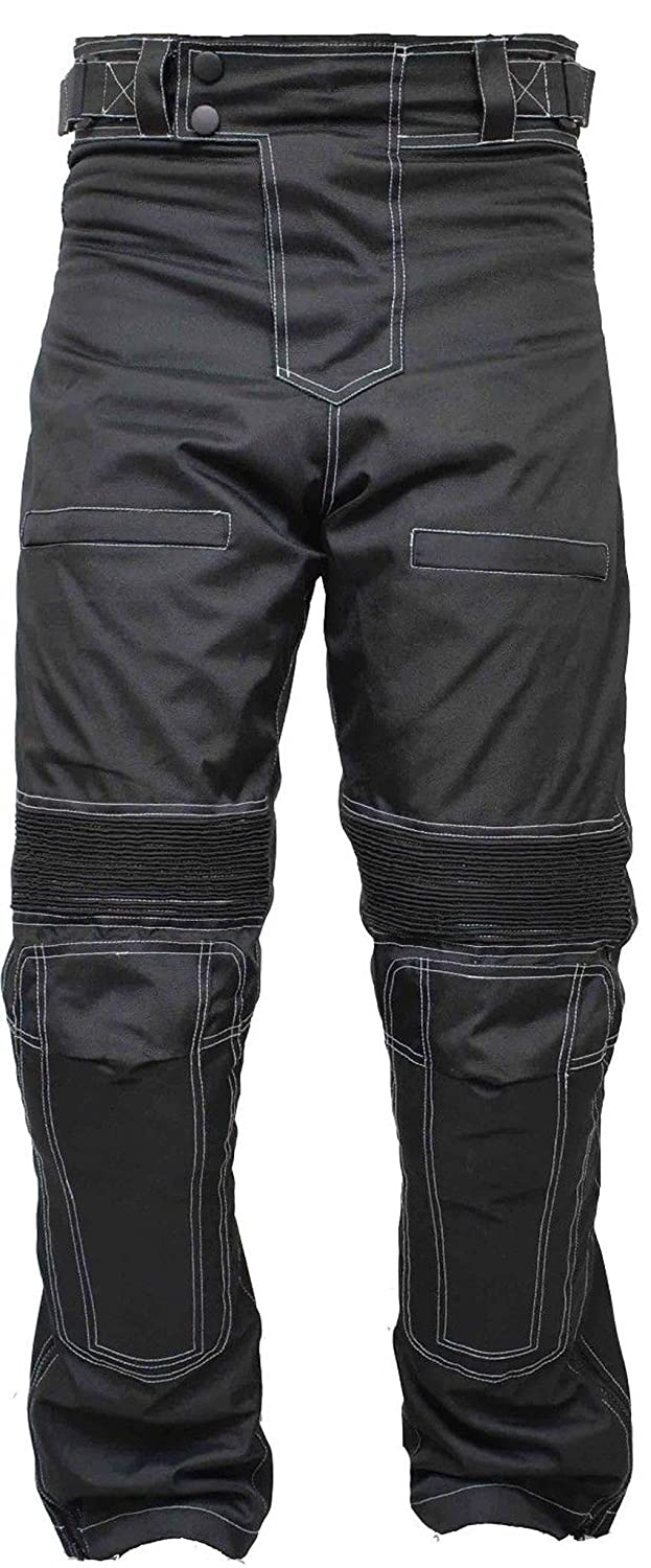 Newfacelook Men's Designer Protective Thermal Motorbike Motorcycle Waterproof Trousers Pants DOUBLE-BUTTON-CA-W40-L32