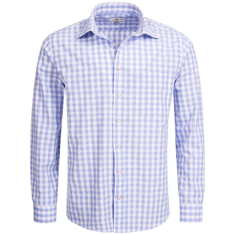 Trachtenhemd Regular Fit in hellblau von Almsach