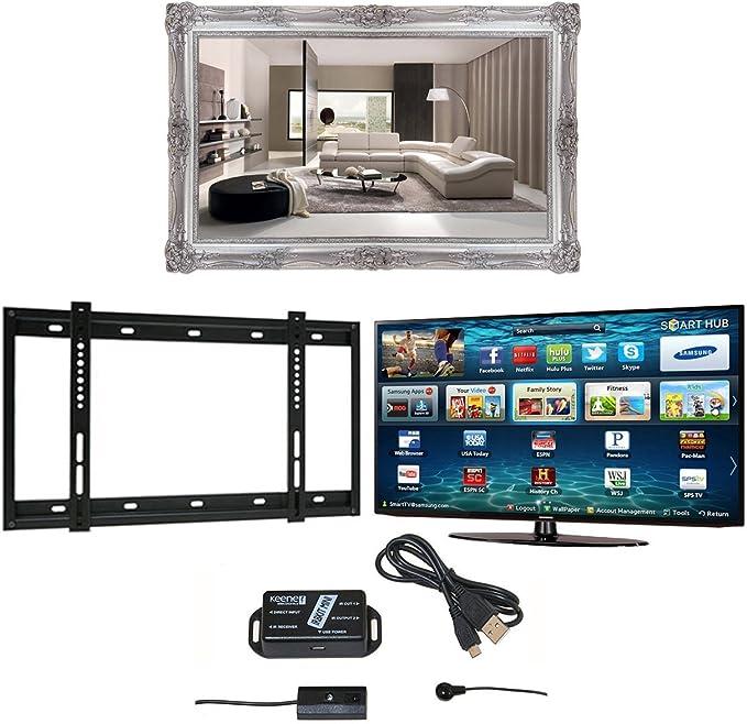 Surrey TV espejo marco, Samsung M6100 4 K Ultra HD Smart TV, soporte de pared y extensor de infrarrojos: Amazon.es: Electrónica