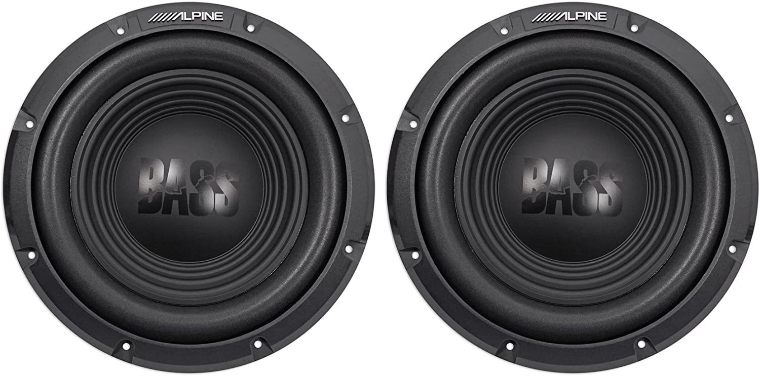 "(2) Alpine W12S4 12"" 1500 Watt Peak 500 Watt RMS 4-Ohm Car Audio Subwoofers Subs"