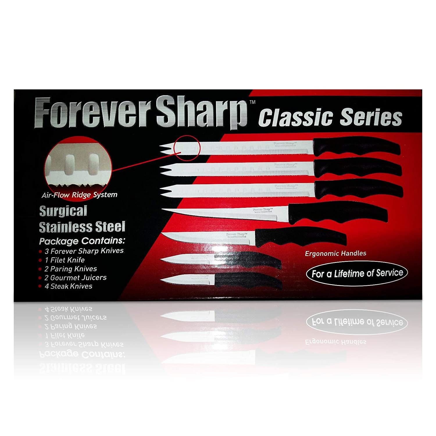 Amazon com forever sharp classic series knives boxed knife sets kitchen dining