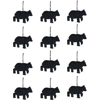 Amazon Com Black Bear Lodge Shower Curtain Hooks Set Of
