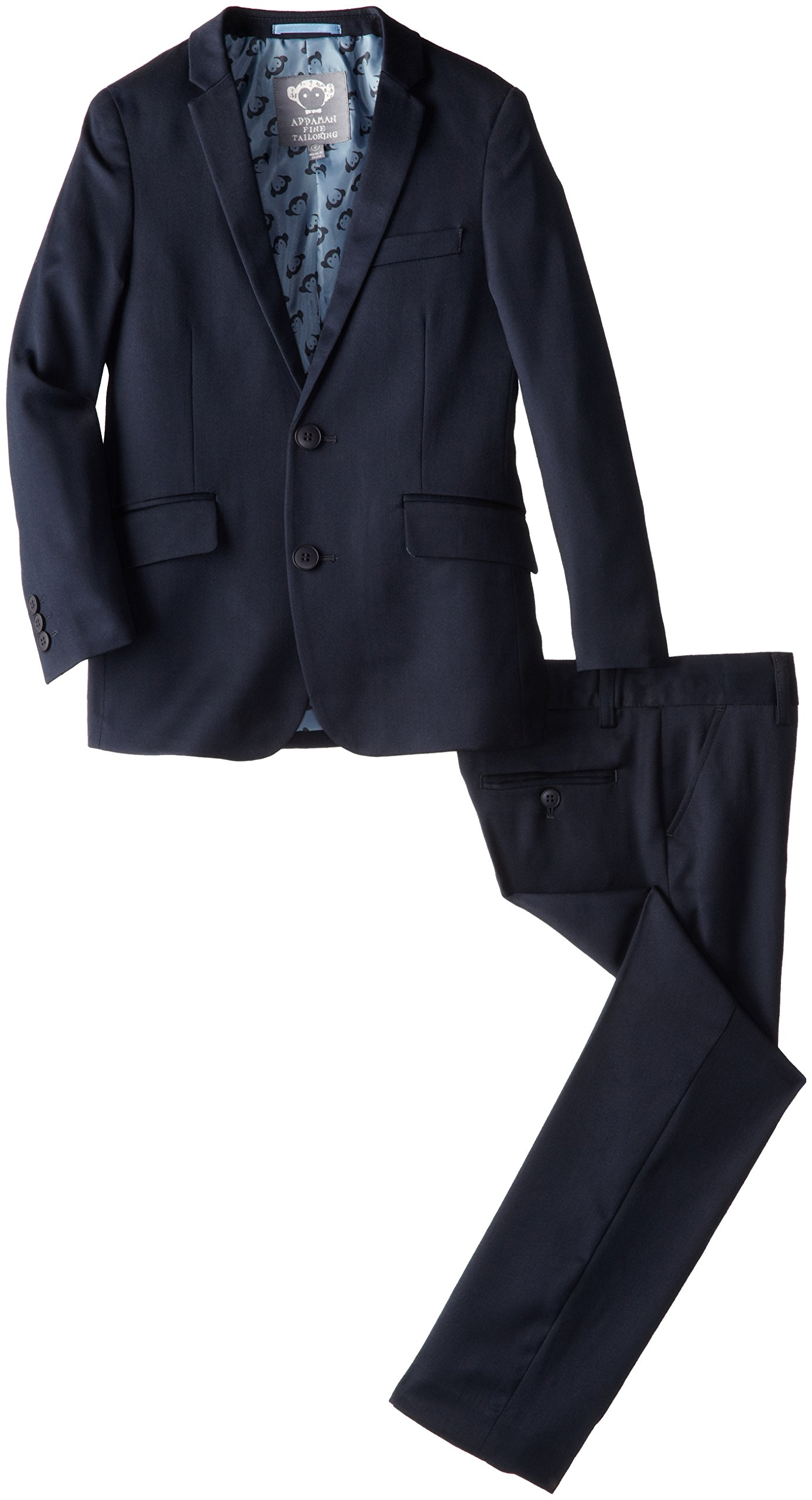 Appaman Big Boys' Two Piece Classic Mod Suit In Navy, Navy Blue, 10