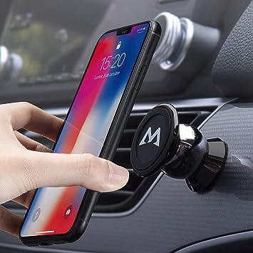 Soporte Magnético Universal con Pegatinas Metalicas, Mpow Iman Móvil Coche / Soporte Auto Car Mount Metálico 360° Rotación Apoyo Pegar a Cualquier ...