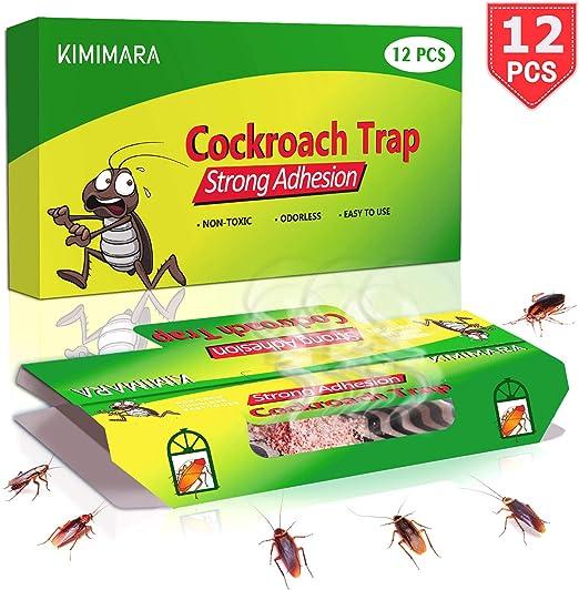 Kimimara Cucaracha Trampas, 12 Pcs Trampas para cucarachas con ...