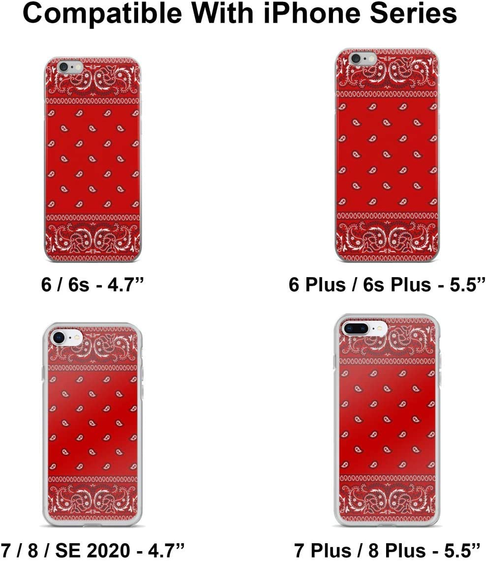 RED BANDANA SPR iPhone 6//6S 7 8 Plus X//XS XR 11 12 Pro Max Mini Case Cover