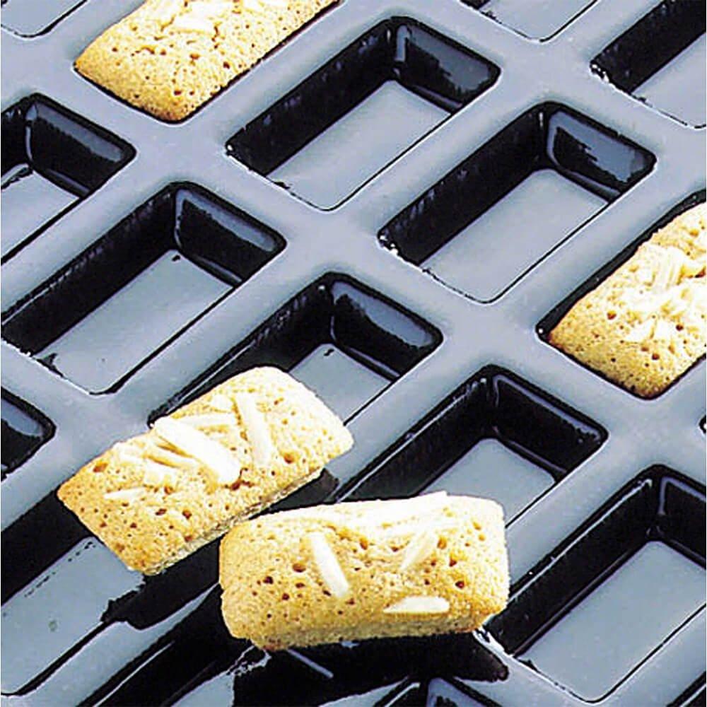 Matfer Bourgeat Silicone Flexipan Mini Rectangular Baking Molds, 84 Cups 336009