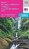 Landranger (125) Bala & Lake Vyrnwy, Berwyn (OS Landranger Map)