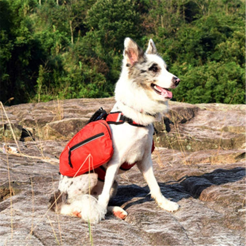 Simis Mochila para Perro 2 en 1 Mochila Desmontable para Mochila para Perros medianos y Grandes para excursiones de Senderismo Paquete de Viaje para Acampar Accesorios para Caminatas al Aire Libre,S
