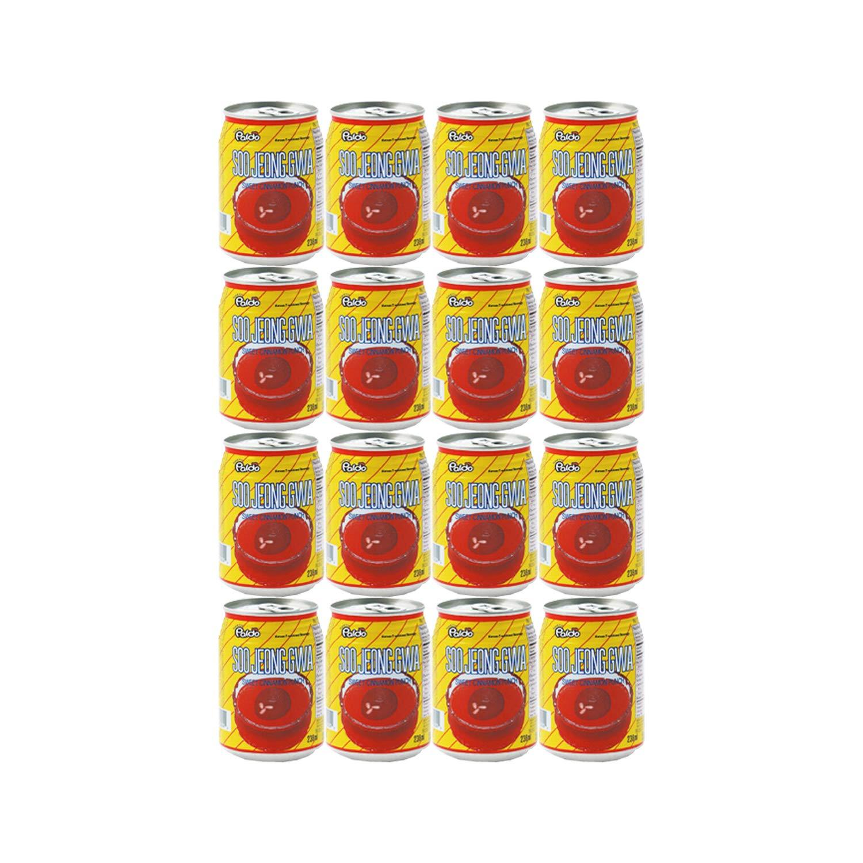 Paldo Fun & Yum Vilac Soojeonggwa Sweet Cinnamon Punch, Pack of 12 Cans, Korean Traditional Sujeonggwa, Cinnamon & Ginger Flavored Dessert Drinks, No Artificial Colorings 팔도 비락 수정과 8.06 fl oz x 12