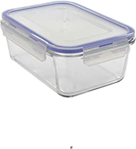 Large Lock-Lid Borosilicate Glass 54oz/1600ml Oven-Safe Food Storage Container