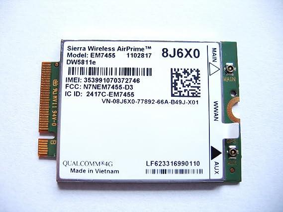 Sierra Airprime Em7455 Dw5811e M 2 Mobile Broadband 4g Lte Wwan Dell Wireless Card