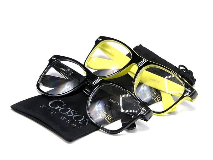 d18cf52831 Amazon.com  Goson Clear Lens Eye Glasses Non Prescription Glasses ...