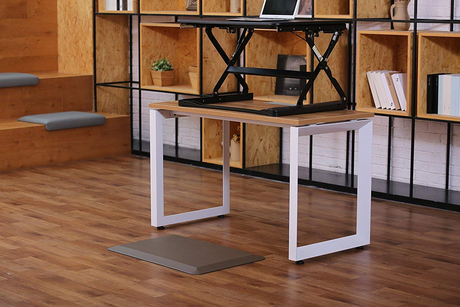 Amcomfy Anti Fatigue Mat Ergonomic Comfort Standing for Office Standing Desk and Kitchen 20 x 30 Black
