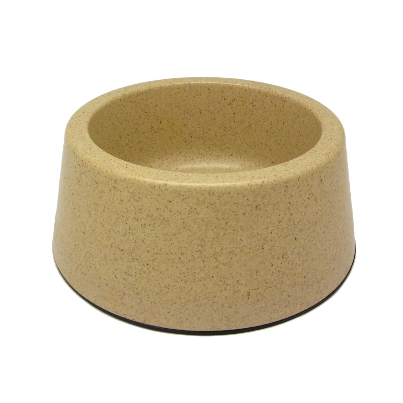 Alfie Pet by Petoga Couture - Kima Bamboo Fiber Eco-Friendly Pet Round Bowl (for Dogs & Cats) - Color: Beige, Size: XL
