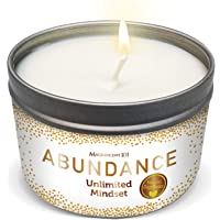 Magnificent101 Abundance Aromatherapy Candle for an Unlimited Mindset - Rose, Jasmine, Lavender, Lilac Scented Natural…
