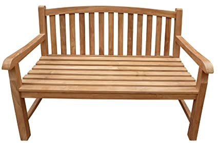 Amazon.com: Seven Seas Teak Buenos Aires Outdoor Patio Oval ...